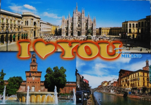 I love you from Milano
