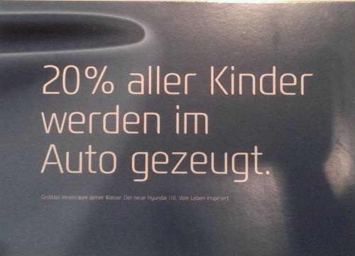 20% aller Kinder werden im Auto gezeugt.
